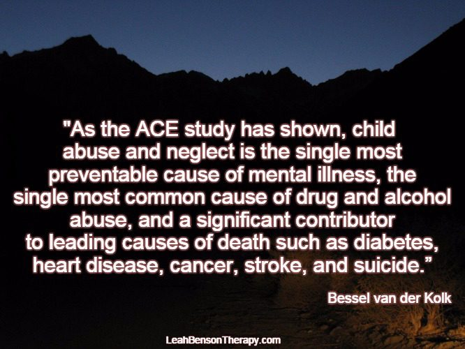 LeahBensonTherapy.com Blog Post the ACE study has shown