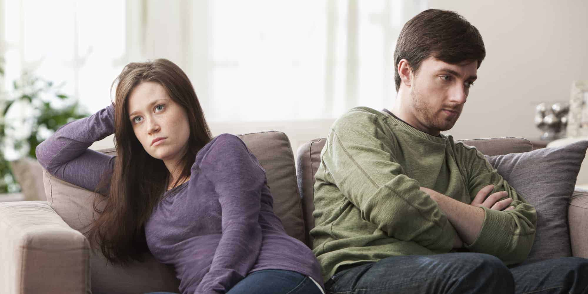 relationship isn't working - photo of unhappy couple