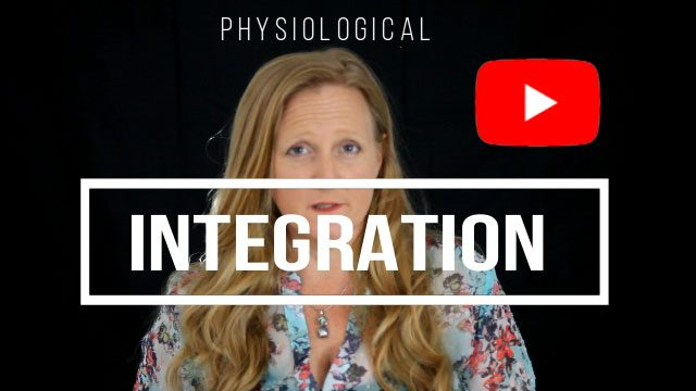 Photo of Leah Benson with the text, Physiological Integration. YouTube symbol also shown.