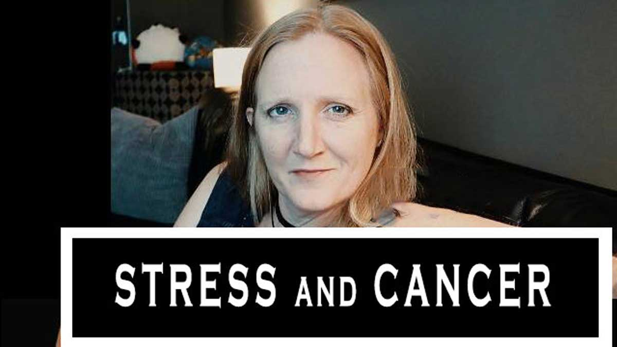 lady therapist discussing stress and cancer