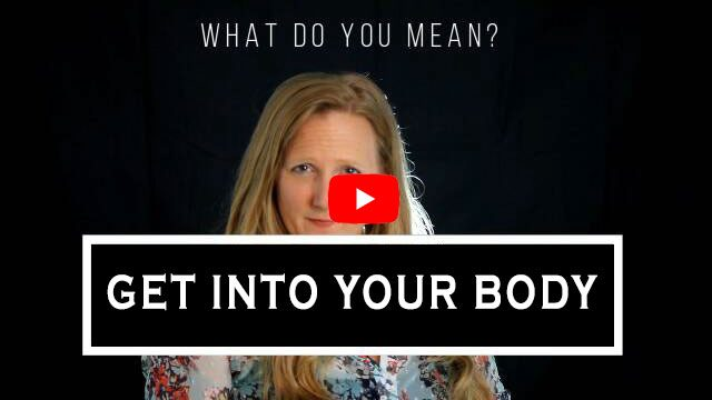 What do you mean? Get into your body. Photo of Leah Benson. YouTube logo