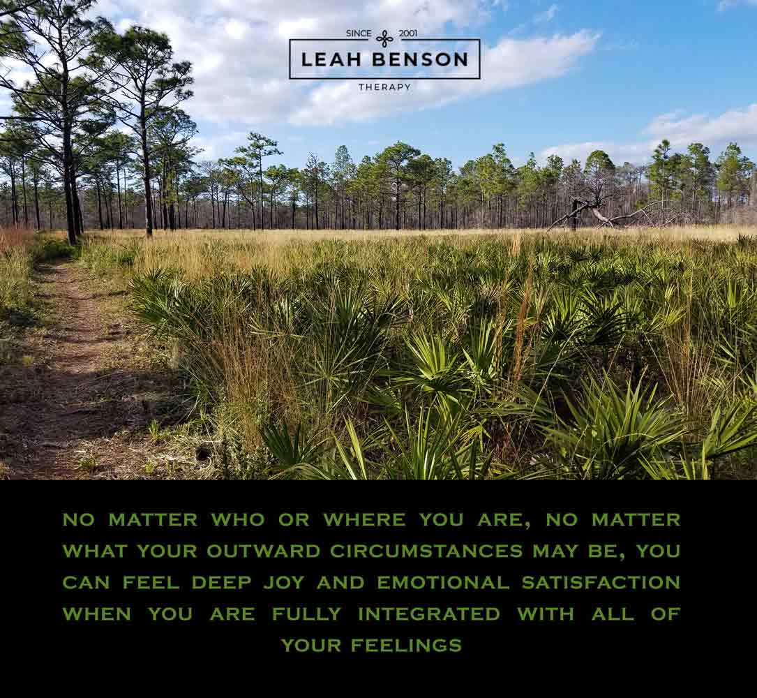 Palmettos and scrub pines with motivational text