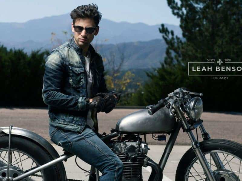 Photo of man on motorcycle