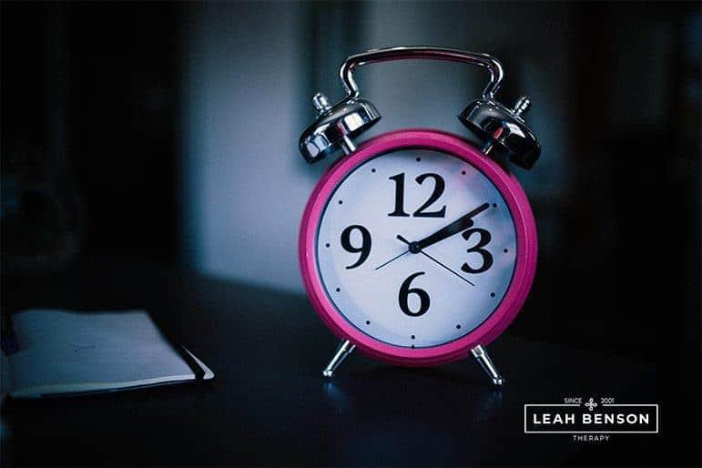 Photo of pink alarm clock
