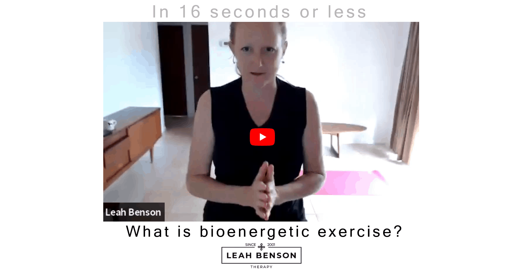 What is bioenergetic exercise?