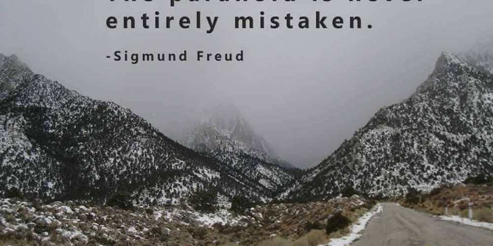 Photos of snow covered mountains with the quote,