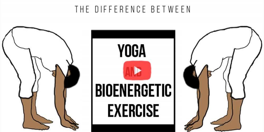 Illustration of Yoga and bioenergetic exercises.